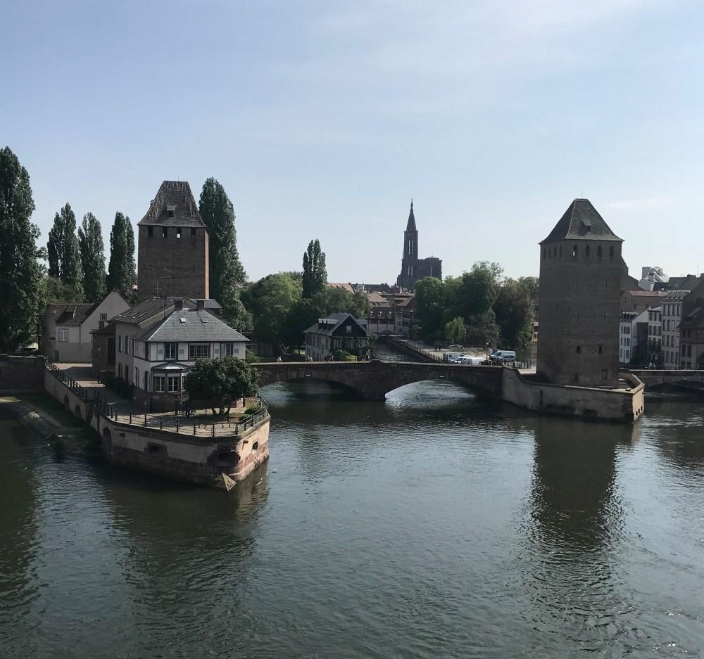 Strasbourg: vista da barragem Vauban