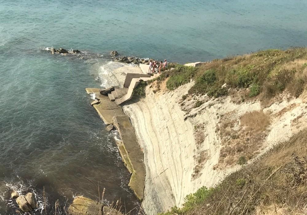 Cape Drastis, em Corfu, visto de cima