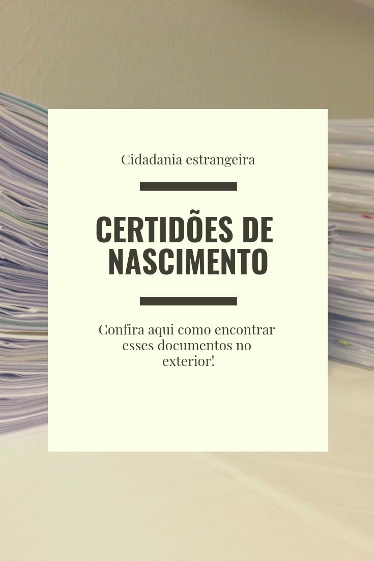 Reconhecimento de cidadania: como encontrar certidões de nascimento no exterior