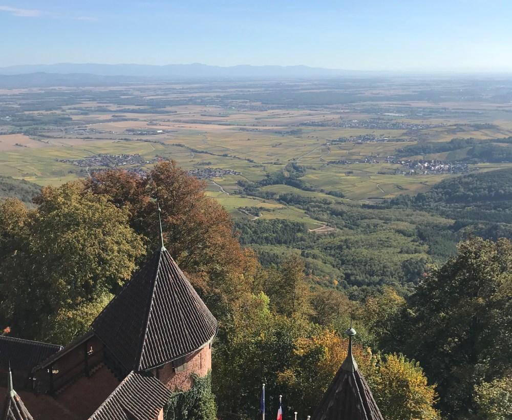 A bela vista do Haut-Koeningsbourg