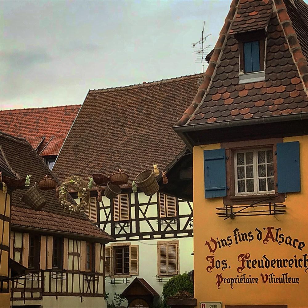 Detalhes charmosos de Eguisheim