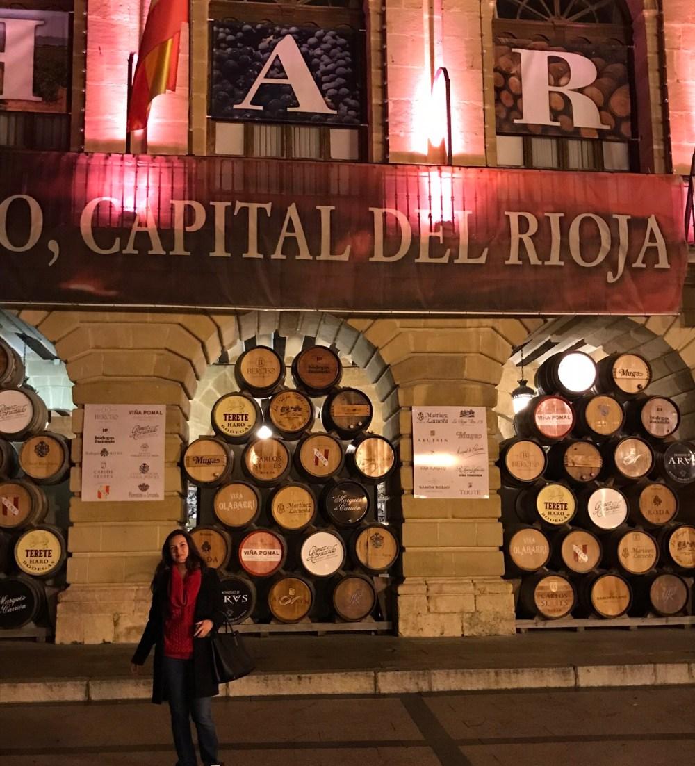 Na praça principal de Haro, Rioja