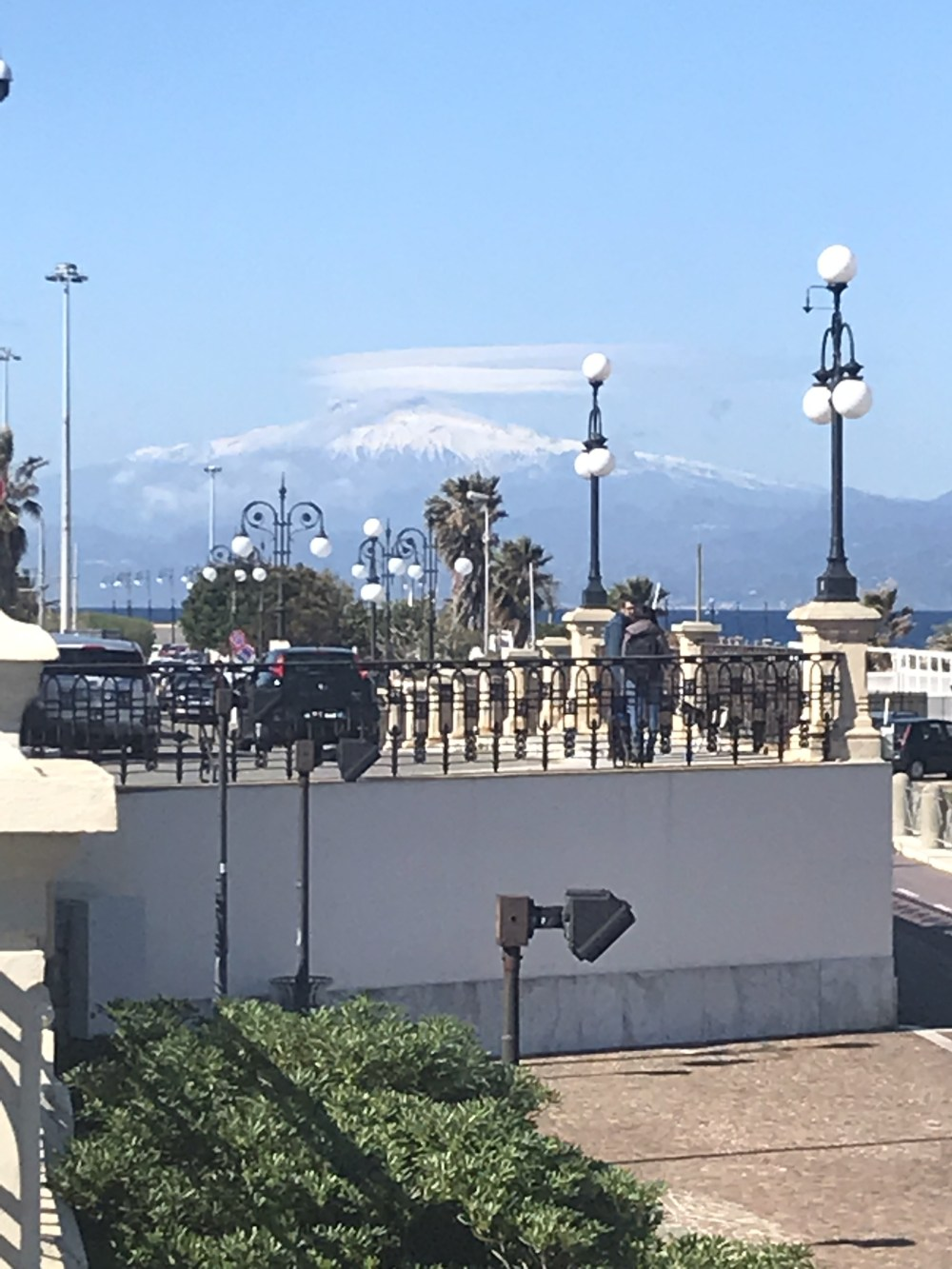 Etna visto de Reggio Calabria