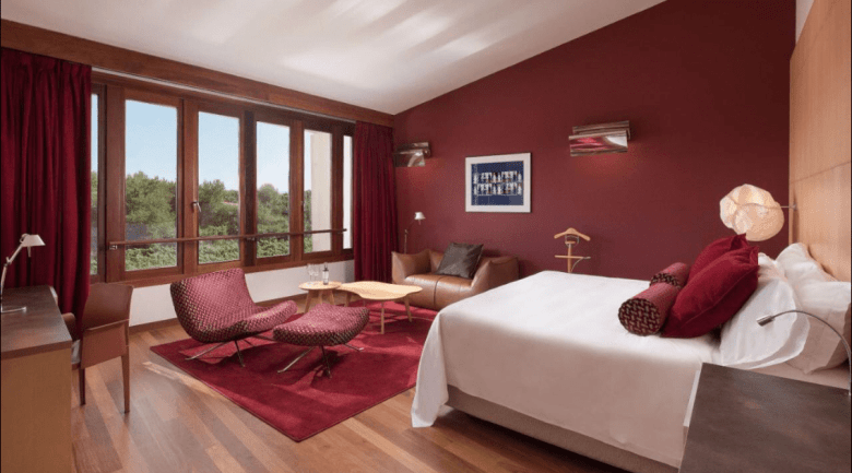 O quarto do hotel da Marqués de Riscal. Foto: Booking