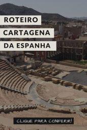 A arena grega de Cartagena da Espanha vista de cima, numa visão panorâmica da cidade