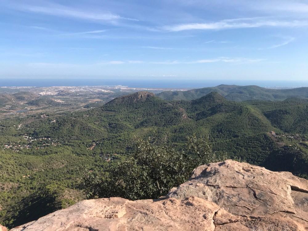 Vista do Mirador de Garbi, em El Garbi, Valencia
