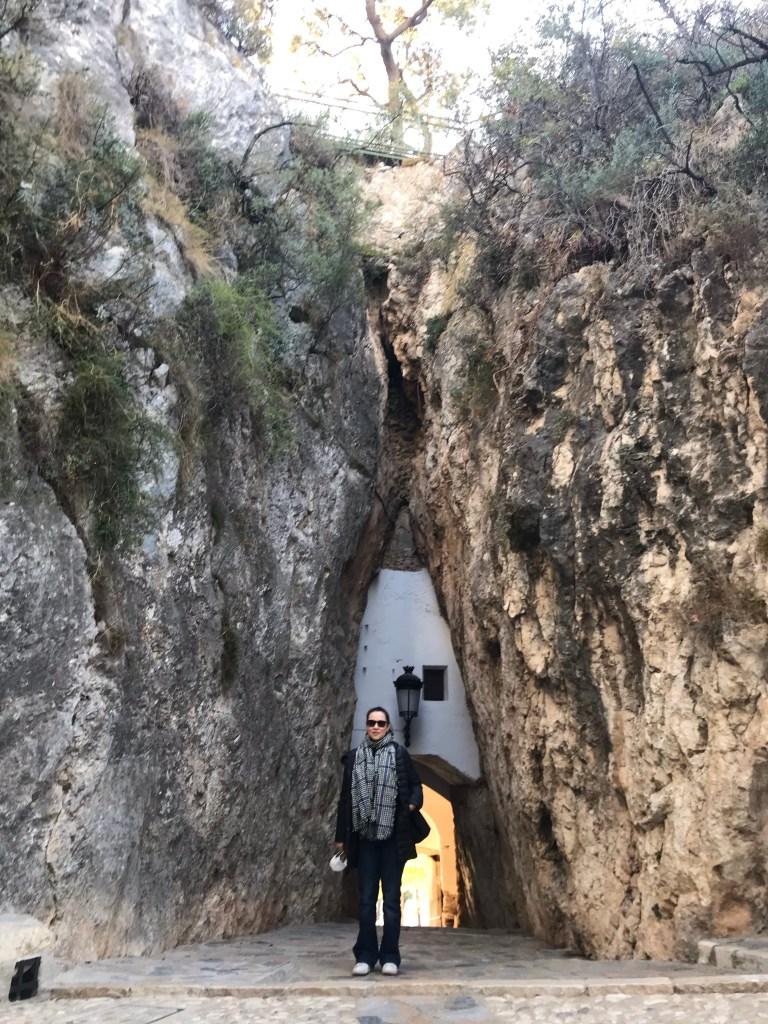 Acesso e porta de entrada do Castelo de Guadalest