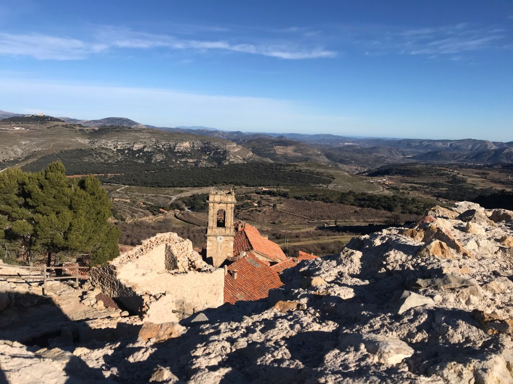 Ruínas do castelo dos templários de Culla