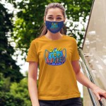 """Women's T shirt that says """"Glad you masked."""""""