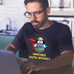 """Men's T shirt that says """"Cyber Security Analyst. Immutable Digital Integrity."""""""