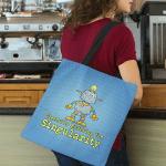 "Tote Bag that says ""Gleefully Enabling the Singularity."""