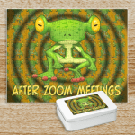 """Puzzle that says """"After ZOOM Meetings."""""""