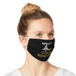 """Mask that says """"Unmask ethical blind spots."""""""