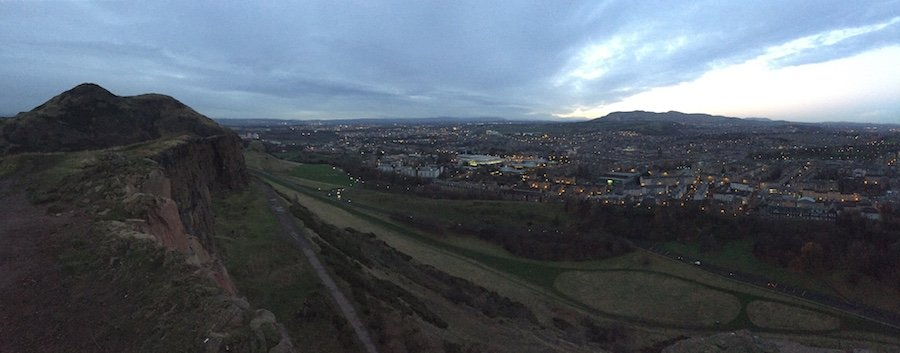 Top of Arthurs Seat, Edinburgh