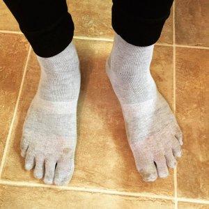 Giles wearing the Injinji Liner Sock