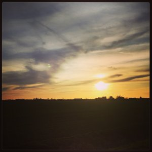 Fenland Sunset, Pymoor - March 2015