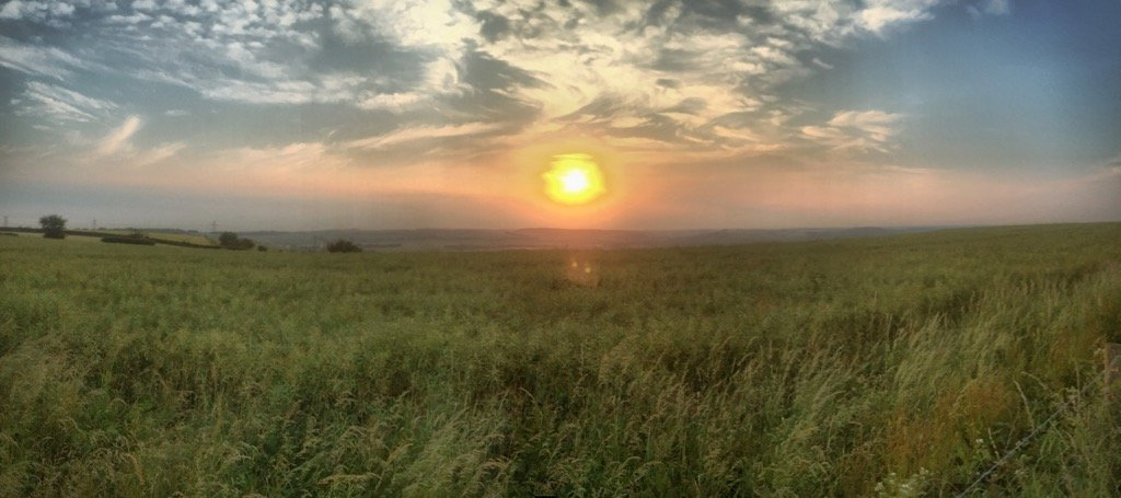 Sunset over The South Downs Way