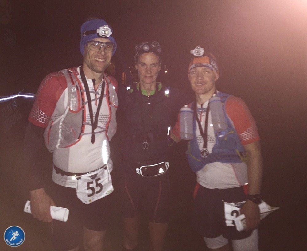 Giles, Simone and Andy at the finish