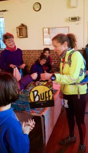 Karen Doak winning her third Peddars Way Ultra in a new course record
