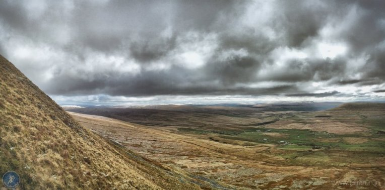 Climbing Whernside and looking towards the challenges that await us later in the day