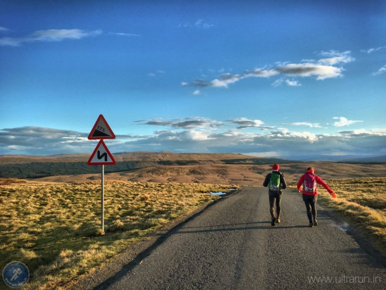 Leaving Fleet Moss (CP15) in the race to Middle Tongue (CP16)