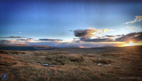Sunset over Fleet Moss