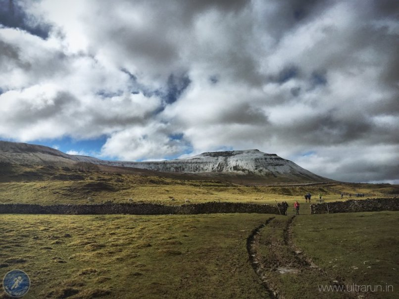 Descending from Ingleborough and checkpoint 1