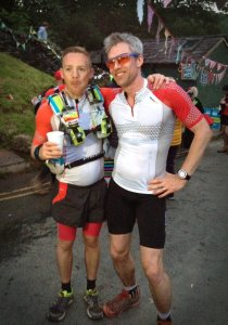 Andy and Giles still looking fresh(ish) at Ambleside Checkpoint