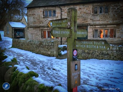 The start of the Pennine Way in Edale, Peak District