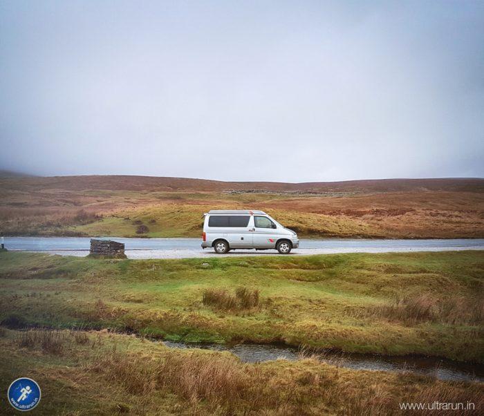 The sanctuary of John's Camper Van on The Pennine Way