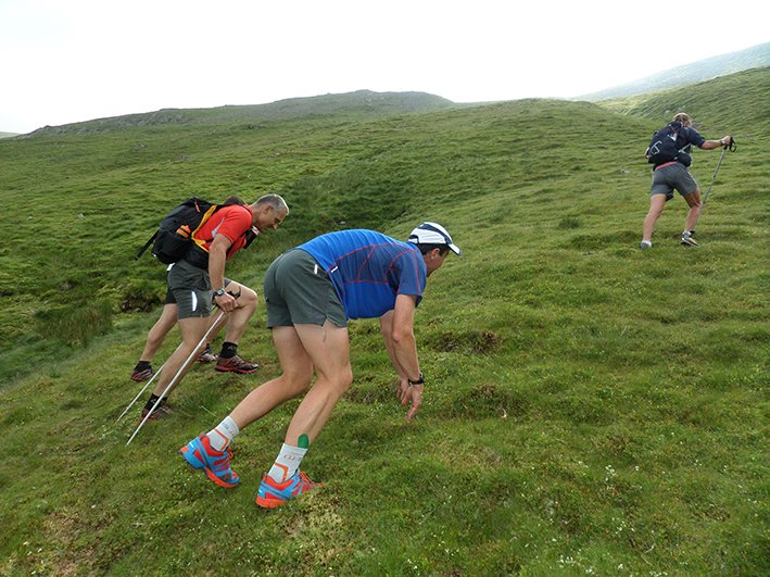 Day 7 - Steve climbing Grisedale Pike with Paul Hainsworth