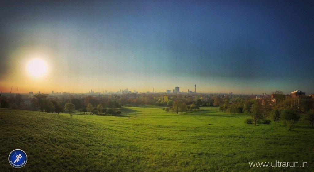 Sunrise over London, from Primrose Hill