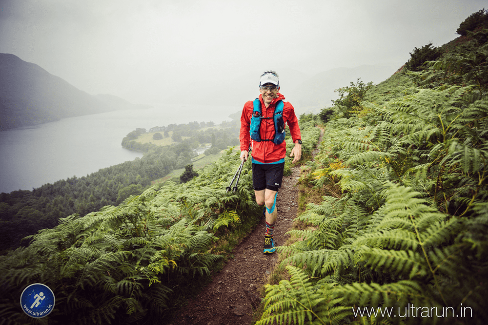 Giles Running Above Ullswater in the 2018 Lakeland 100