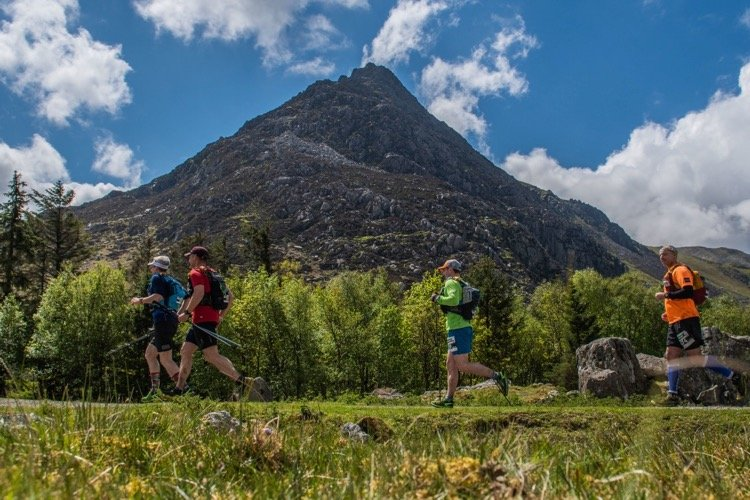 Dragons Back 2019 / Day One: Giles, Jez and Gethin Approaching The Ogwen Support Point
