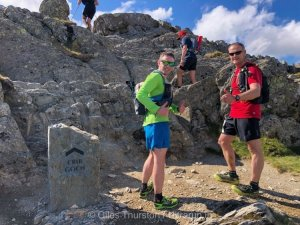 Dragons Back 2019 / Day One: Gethin and Jez At The Start of Crib Goch Traverse
