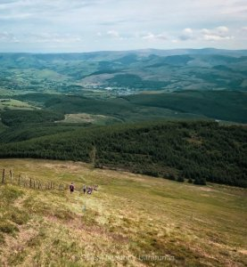 Dragons Back 2019 / Day Three: Steep (Painful) Descent with Machynlleth in the distance