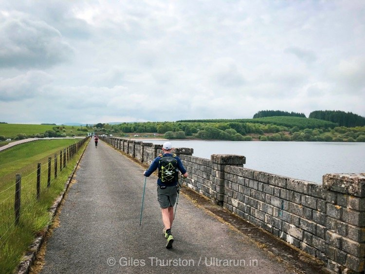 Dragons Back 2019 / Day Five: Crossing The Dam at Usk Reservoir to The Support Point