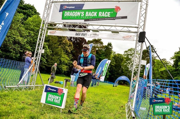 Dragons Back 2019 / Day Five: Giles at The Finish