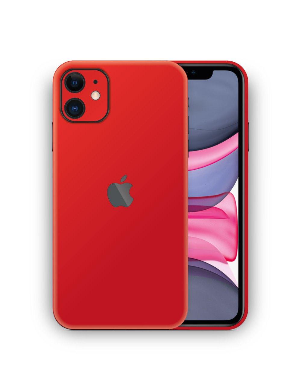 Apple iPhone 11 Matte Red Vinyl Skin Wrap