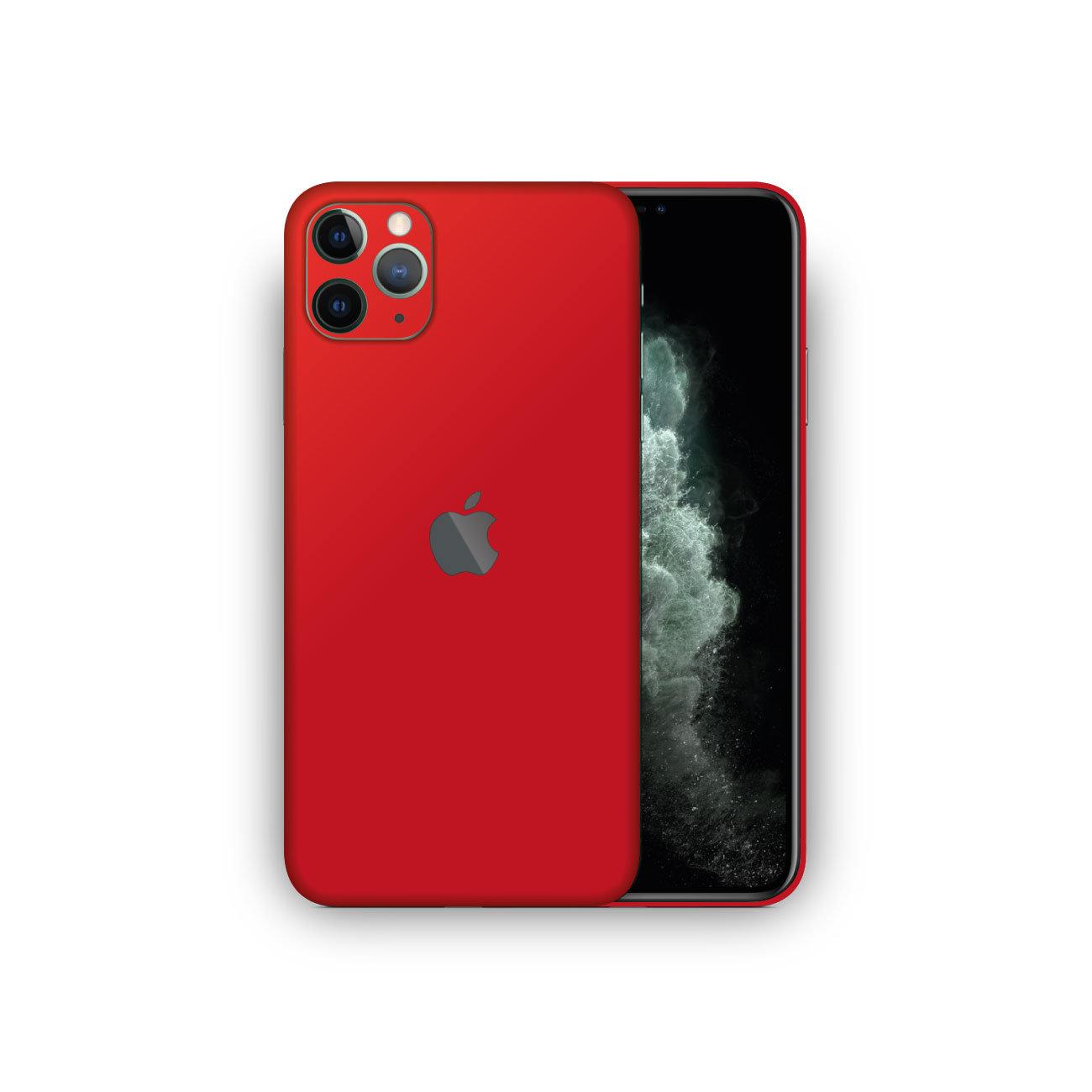 Apple iPhone 11 Pro MATTE RED Skin Vinyl Wrap
