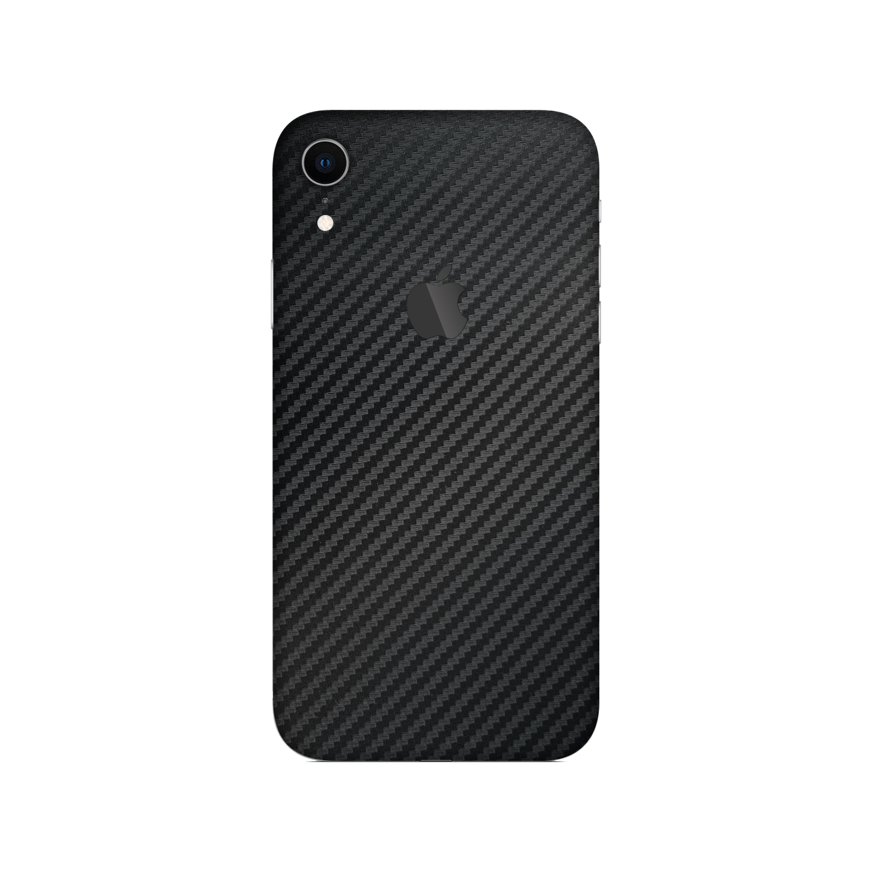 Black Carbon Fibre vinyl skin for iPhone XR