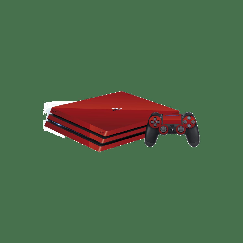 Sony PS4 Pro Glossy Vengeance Red Vinyl Skins Wraps
