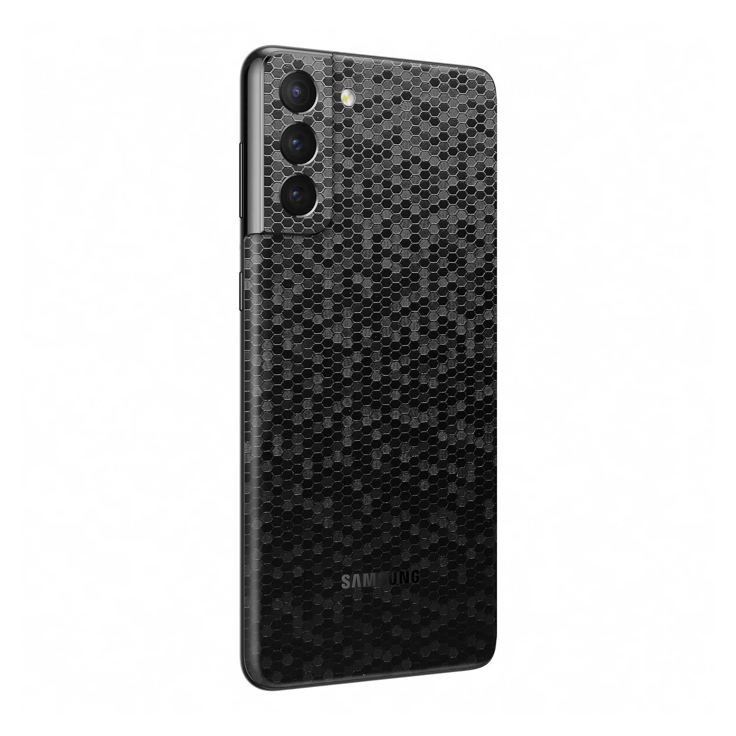 3D Textured Black Honeycomb Skin for Samsung Galaxy S21 Plus
