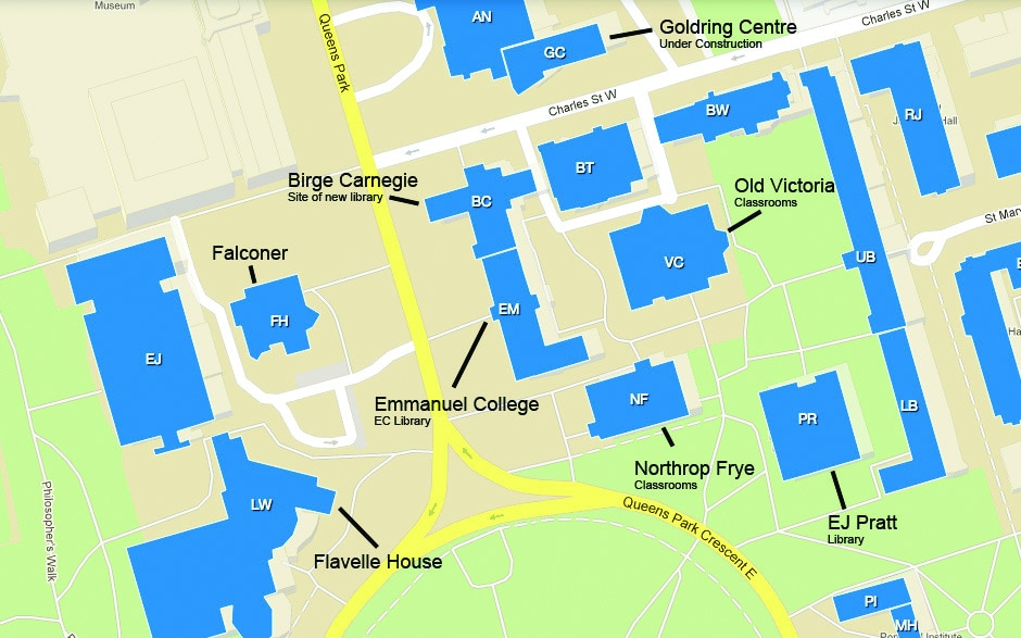U O F T Campus Map.Victoria Campus Is The Law School S Temporary Home Ultra Vires