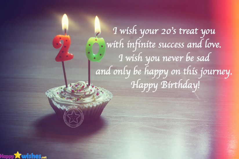 Happy 20th Birthday Wishes Quotes And Messages Ultra Wishes