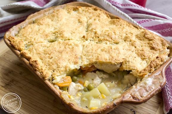 Chicken Pot Pie - zapiekanka z kurczakiem i warzywami