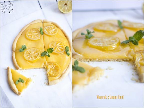 Mazurek z lemon curd