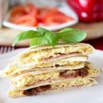 Śniadaniowe tortille z jajkiem