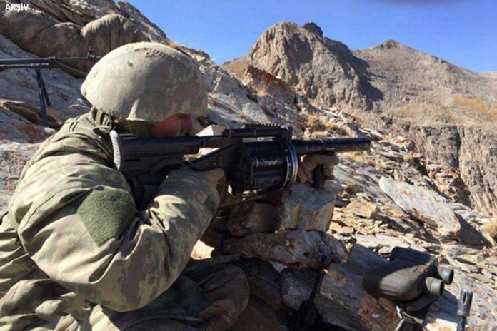 İran sınır hattında tespit edilen PKK'lilere karşı gerçekleştirilen SİHA destekli operasyon