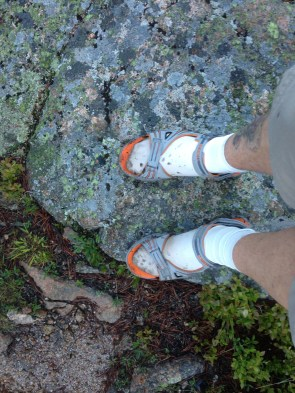 These sandals worked great... and I am wearing liner socks. Don't judge me! haha